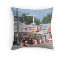 Eddie's Grill Throw Pillow