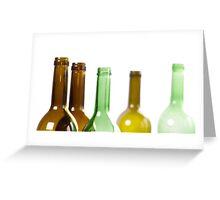 Green bottles Greeting Card