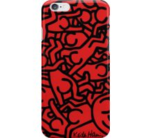 Keith Haring -Red People- iPhone Case/Skin