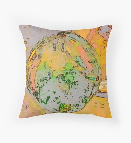 Green Swirl 2 Throw Pillow
