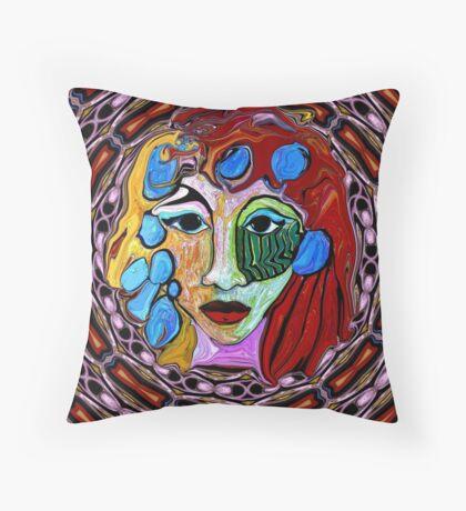Mona in a Frame Throw Pillow