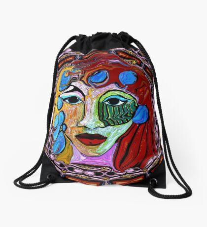Mona in a Frame Drawstring Bag