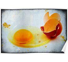 Broken egg Poster