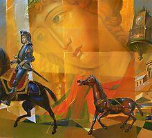 Knight Angel and Death. by Guennadi Kalinine