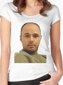 Local Boy Karl Pilkington Women's Fitted Scoop T-Shirt