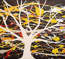 """The White Tree"" wall art Original print painting tree abstract decor wall art starry night tree of life by wrightsonarts"
