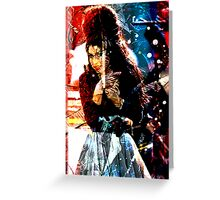 WINEHOUSE: CHANGE UP THE 'NO-NO-NO' TO GO.... Greeting Card