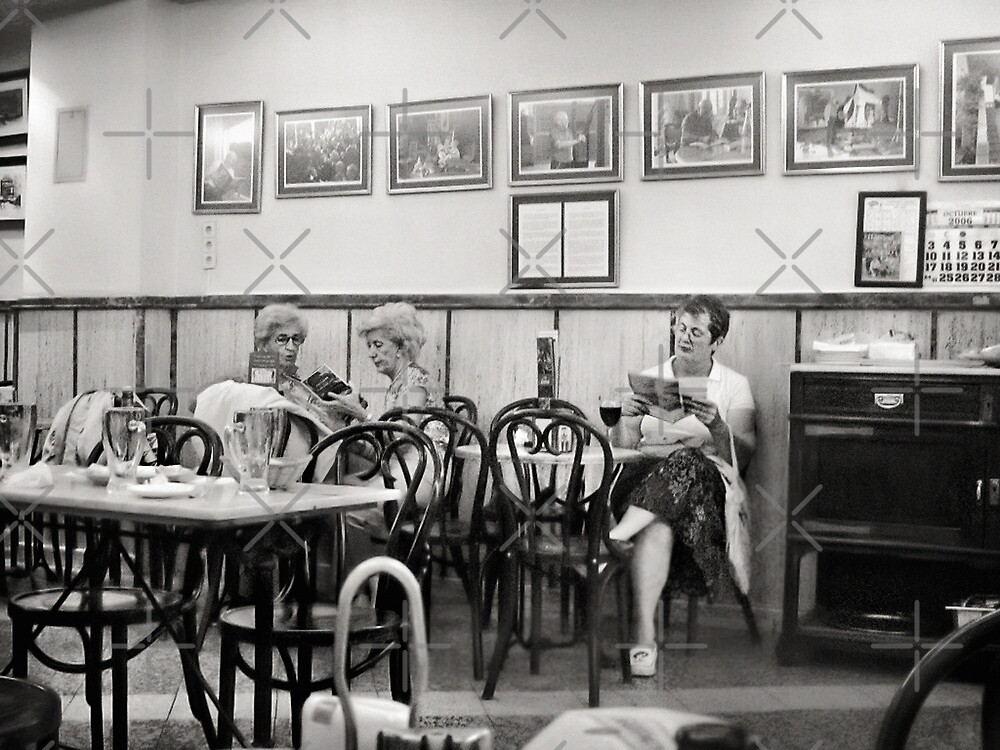 Ladies Sitting In Cafe by Maria  Gonzalez
