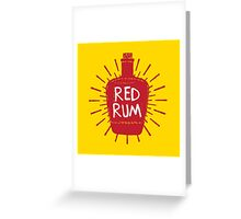 Redrum Bottle Greeting Card