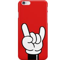 Rock and roll Music Hands iPhone Case/Skin