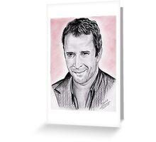 James Purefoy portrait Greeting Card