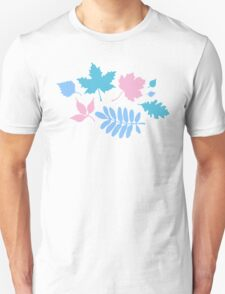 Pastel Leaves Pattern T-Shirt