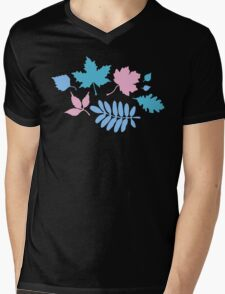 Pastel Leaves Pattern T-Shirt