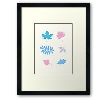 Pastel Leaves Pattern Framed Print