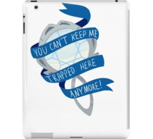 she was trapped in a mirror iPad Case/Skin