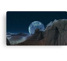 Marbled Moon Canvas Print