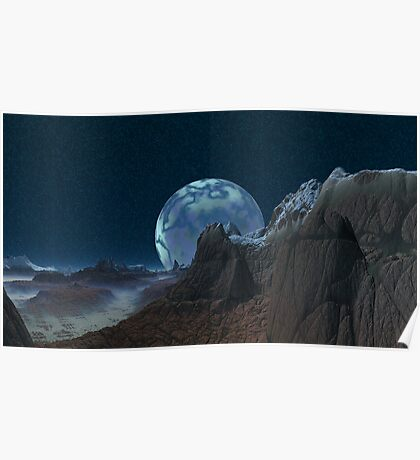 Marbled Moon Poster