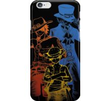 One Piece Brothers - colored lineart iPhone Case/Skin