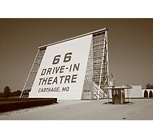 Route 66 - Drive-In Theatre Photographic Print