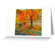 Taking a stroll by the Yarra - Melbourne VIC Australia Greeting Card