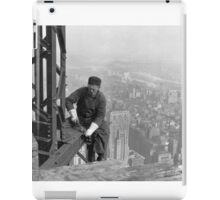 Black and white retro construction site. iPad Case/Skin