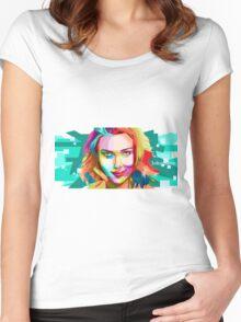 scarlett johansson Women's Fitted Scoop T-Shirt