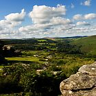 View from Combestone Tor by moor2sea