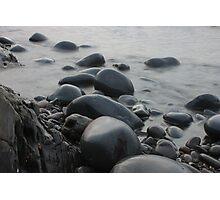 Misty Pebbles Photographic Print