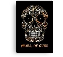 Skull Of Guns Canvas Print