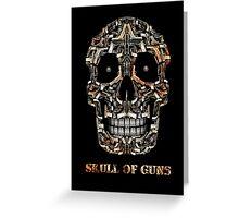Skull Of Guns Greeting Card