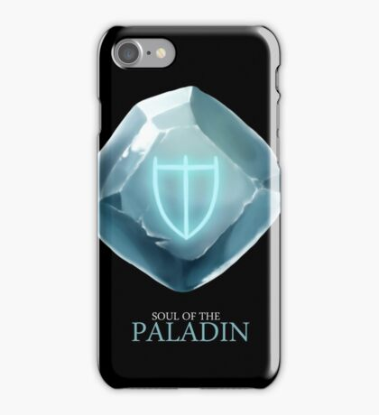 Soul of the Paladin -black iPhone Case/Skin