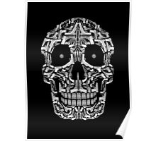 Skull Of Guns (B&W) Poster