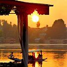 Sunset over Nagin Lake by Brian Bo Mei