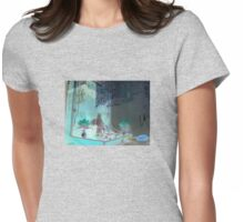 Laundromat Buddha Womens Fitted T-Shirt