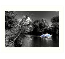 Messin about on the river Art Print