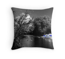 Messin about on the river Throw Pillow