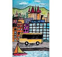 A Bus Ride in The Mountains Photographic Print