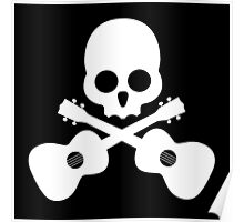 Old Skull Music Guitar Poster