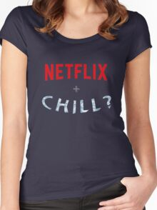 NETFLIX AND CHILL? ICE JOKE Women's Fitted Scoop T-Shirt