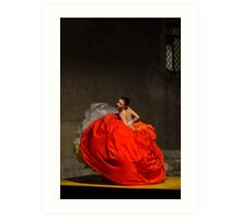 Dancer in red  Art Print