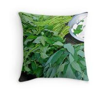 Balinese Markets Throw Pillow