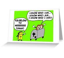 Funny Cartoon- Angel Heart Greeting Card