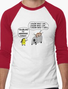 Funny Cartoon- Angel Heart Men's Baseball ¾ T-Shirt