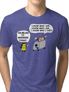 Funny Cartoon- Angel Heart Tri-blend T-Shirt