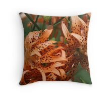 Tigers and Friend Throw Pillow