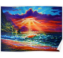 Molokai Sunset Poster