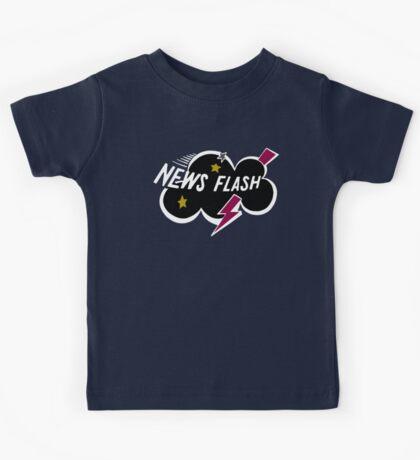 Muppet News Flash - Logo Design  Kids Tee