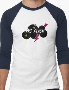Muppet News Flash - Logo Design  Men's Baseball ¾ T-Shirt