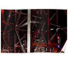 Brisbane City thru the Story Bridge Poster