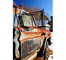 Side View of abandoned truck Photographic Print
